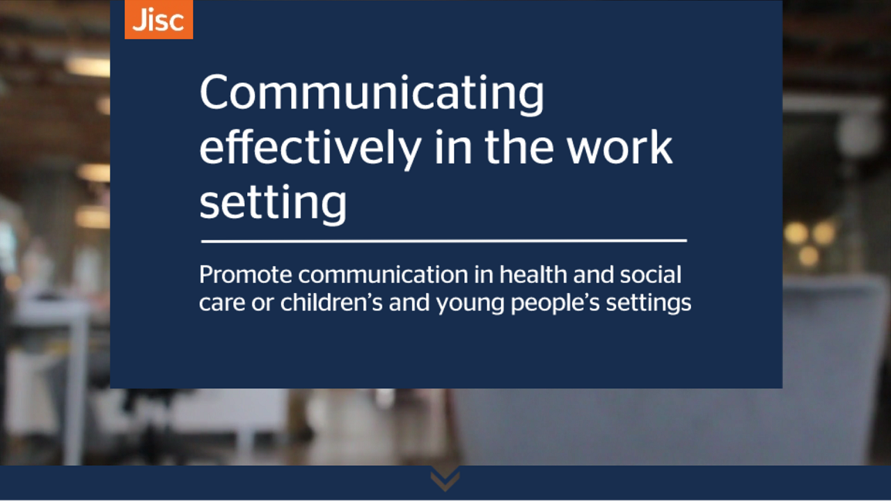Communicating effectively in the work setting activity thumbnail