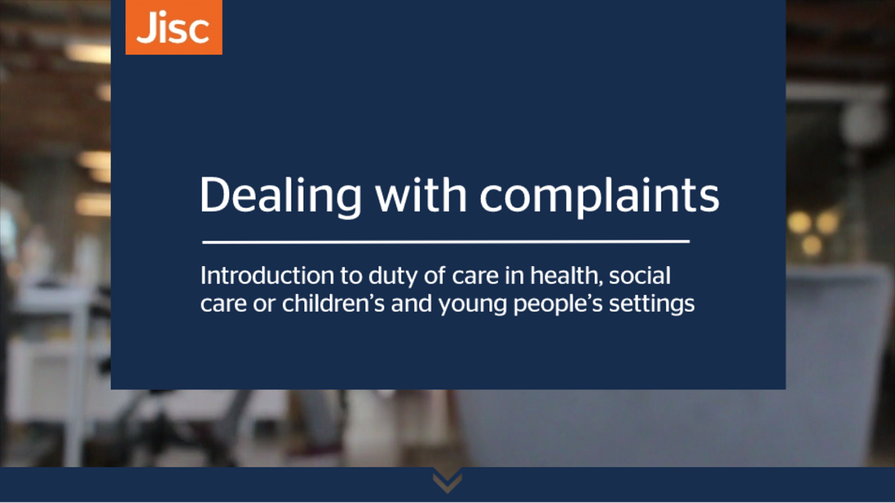 Dealing with complaints activity thumbnail