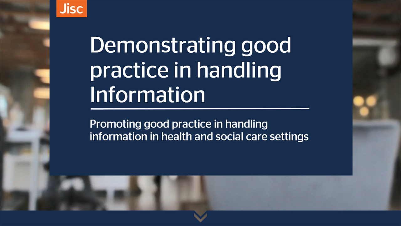 Demonstrating good practice in handling information activity thumbnail