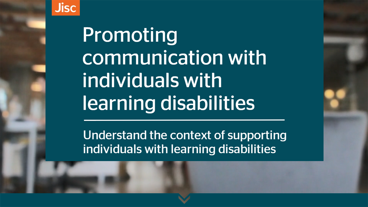 Promoting communication with individuals with learning disabilities activity thumbnail