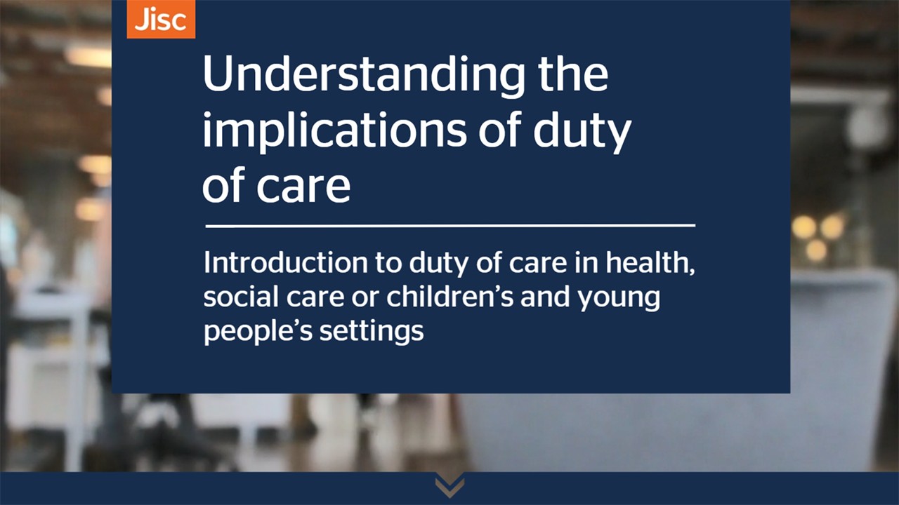 what is duty of care in health and social care