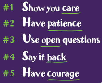 Samaritans listening tips